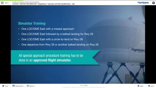 Innsbruck Special Airport Training - FlightSafety International