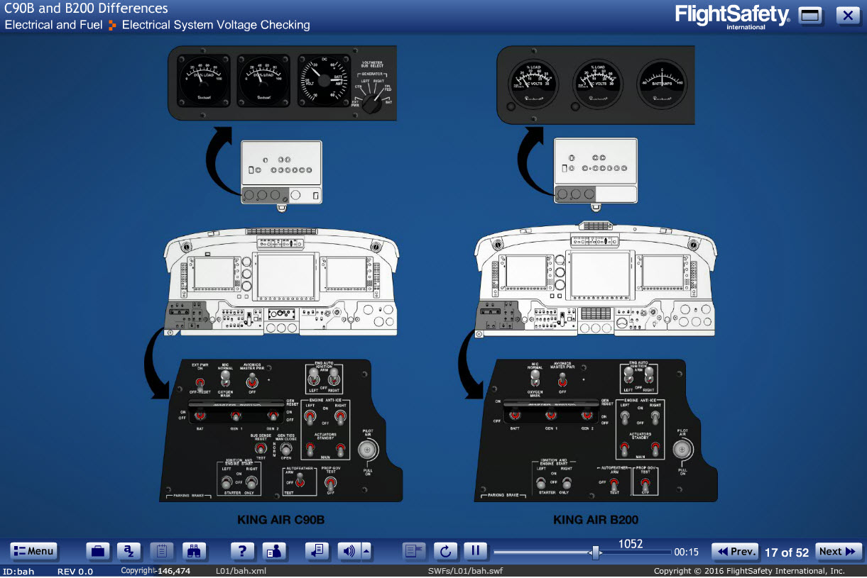 kadiff2 king air c90b to b200 differences (elearning) flightsafety King Air 200 at edmiracle.co